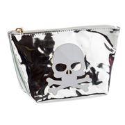Lolo - Avery Shiny Silver Skull Cosmetics Case