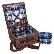 Avanti - Two Person Blue & Yellow Check Picnic Basket