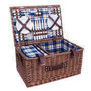 Avanti - Six Person Blue & Yellow Check Picnic Basket