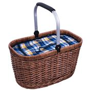 Avanti - Blue & Yellow Check Insulated Carry Basket