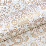 Vandoros - Mandala Quartz & Gold Wrapping Paper