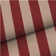 Vandoros - Spice Red Kraft Pavillion Stripe Wrapping Paper