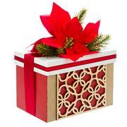 Boz Christmas - Lush In Red Poinsettia Shortbread Box