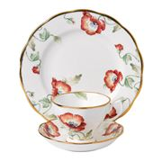 Royal Albert - 100 Years 1970s Poppy Teacup, Saucer & Plate