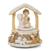 Gibson - Silent Night Spinning Musical Nativity Ornament