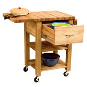 Catskill - Deep Drawer Double Drop Leaf Cart