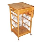 Catskill - Single Drop Leaf Basket Cart