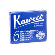 Kaweco - Fountain Pen Blue Ink Cartridge Refill Set 6pce