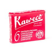 Kaweco - Fountain Pen Red Ink Cartridge Refill Set 6pce