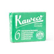 Kaweco - Fountain Pen Green Ink Cartridge Refill Set 6pce