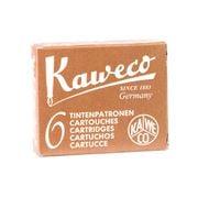 Kaweco - Fountain Pen Brown Ink Cartridge Refill Set 6pce