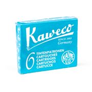 Kaweco - Fountain Pen Turquoise Ink Cartridge Set 6pce