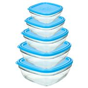 Duralex - Lys Carre Food Container Set 5pce