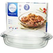Duralex - Oven Chef Oval Baking Dish Set 3pce