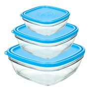 Duralex - Lys Carre Food Container Set 3pce