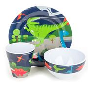 Bobble Art - Dinosaur Melamine Mealtime Set 3pce