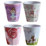 Bobble Art - Girl's Melamine Cup Set 4pce