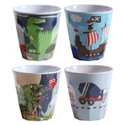Bobble Art - Boy's Melamine Cup Set 4pce