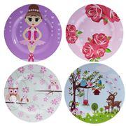 Bobble Art - Girl's Melamine Plate Set 4pce