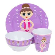 Bobble Art - Ballerina Melamine Mealtime Set 3pce
