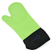Cuisena - Silicone & Cotton Oven Glove Green