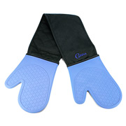 Cuisena - Silicone & Cotton Double Oven Glove Blue