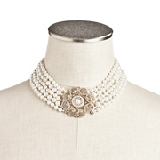 Carolee - Retro Pearl Floral Torsade Necklace