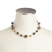 Carolee - Cocoa Crystal and Pearl Illusion Necklace