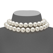 Carolee - Two Row White Pearl Choker Necklace