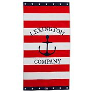 Lexington - Striped Graphic Red Beach Towel
