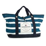 Lexington - Miami Striped Blue/White Beach Bag