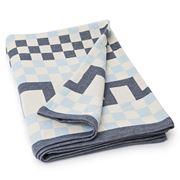 Lexington - Authentic Collection Blue Jacquard Blanket