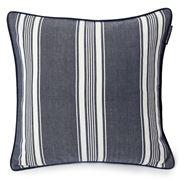 Lexington - Ticking Striped Cushion Cover Navy 50x50cm