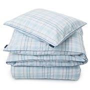 Lexington - Poplin Check Pillowcase Blue 65x65cm