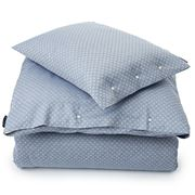 Lexington - Blue Jacquard Queen Quilt Cover
