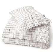 Lexington - Pin Point Oxford Shaker Flat Sheet Grey Queen