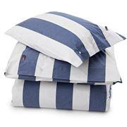 Lexington - Poplin Striped Pillowcase Blue/White 50x75cm