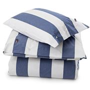 Lexington - Poplin Striped Blue/White Flat Sheet King