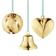 Georg Jensen - Christmas Collectables Gold Ornament Set