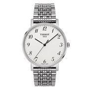 Tissot - Everytime Silver Dial Wristwatch with Steel Strap