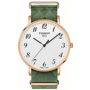 Tissot - Everytime Large Rose Gold Wristwatch w/ Green Strap