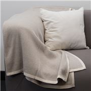 Bemboka - Pure Cotton Frame Throw Wheat & Sand