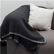 Bemboka - Pure Cotton Frame Throw Grey & Charcoal