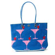 Skipping Girl - Martini Royal Blue Carry All Tote Bag