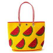 Skipping Girl - Watermelon Yellow & Red Carry All Tote Bag