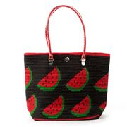Skipping Girl - Watermelon Red & Black Carry All Tote Bag
