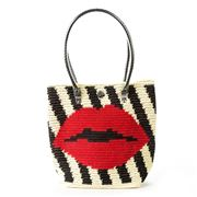 Skipping Girl - Lips Cream & Black Classic Tote Bag