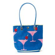 Skipping Girl - Martini Royal Blue Classic Tote Bag