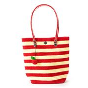 Skipping Girl - Apple Cream & Red Stripe Classic Tote Bag