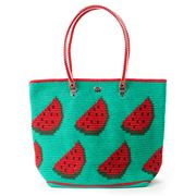 Skipping Girl - Watermelon Green & Red Carry All Tote Bag
